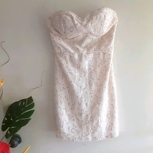 🆕️ Bailey Blue NWOT Medium Prom Strapless Dress
